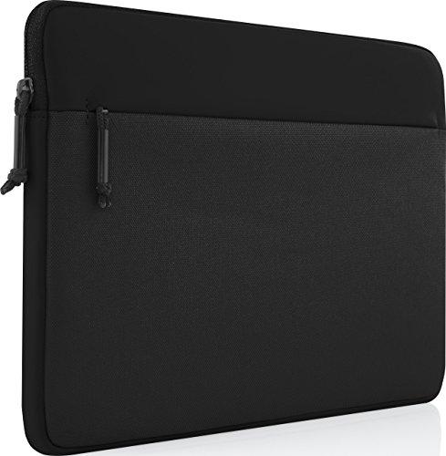 Incipio Truman Sleeve für Microsoft Surface Go - von Microsoft zertifizierte Schutzhülle [Außentasche I Nylon I Gepolstert I Kunstfell Innenfutter] - Schwarz MRSF-128-BLK