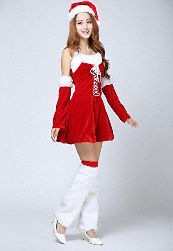 MFFACAI Frauen-Fräulein Weihnachtsmann-Kostüm Nachtclub Charakter Spiele die Bar DS Foto Party Bankett Weihnachtsanzug (Für Frauen Charakter-kostüme)