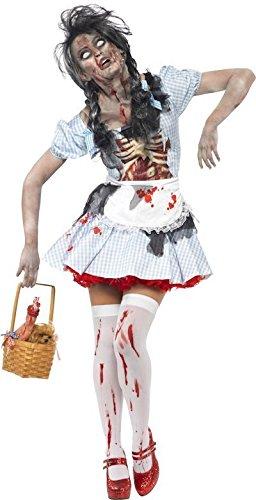 Smiffy Horror Zombie Dorothy aus Der Zauberer von Oz Damen-Kostüm (Der Zauberer Von Oz Kostüme Uk)