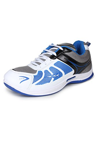 Columbus Men White Black Blue Sports Shoes (10 UK)  available at amazon for Rs.349
