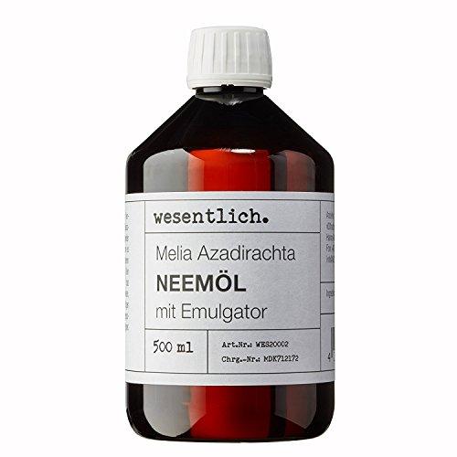 wesentlich. Neemöl mit Emulgator 500ml - fertig Gemischt für sofortige Anwendung