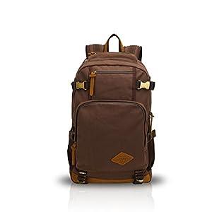 41DcWmCOU2L. SS300  - FANDARE Clásico Vintage al Aire Libre Viajes de Senderismo Mochila Escuela Colegialidad Daypacks portátil Bolsa de Lona…
