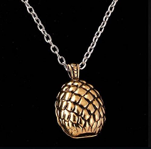 Game of Thrones Halskette mit Daenerys Targaryen Drachenei Anhänger Ei