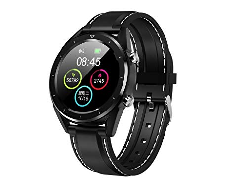 Happy event Smartwatch, DT28 Smart Watch Sportuhr Fitness Tracker mit Schrittzähler Schlafanalyse 1,54 Zoll Touchscreen, Kamera, SMS Facebook Vibration Kompatibles Android-Handy für Herren Damen Damen