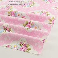 IDEA HIGH IDEA DE ALTA Pink Rose tela de algodón de la vendimia 50cmx160cm / piece