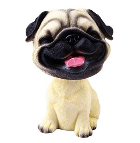 OZUKO \'Wackelkopf-Figur für Armaturenbrett, Wackel-Kopf für Kinderzimmer (lachender Hund)