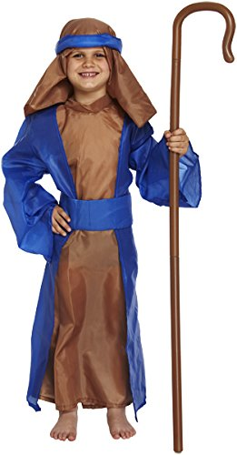 (Boys Blue Shepherd Shepard Kostüm Nativity Medium (Alter 7-9) W00232 VEX)