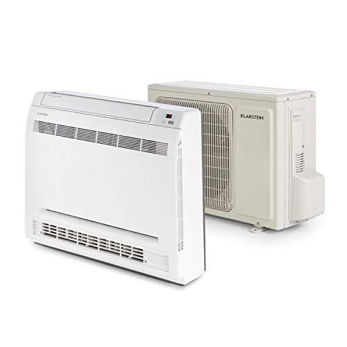 Klarstein Ground Control 12 - Split-Klimaanlage, Inverter, Klimagerät, Energieeffizienzklasse A++, 12000 BTU, 52 dB, Timer-Funktion, 6-stufig integrierter Ventilator, Fernbedienung, weiß