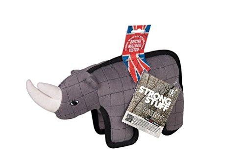 Karlie Hundespielzeug Strong Stuff Tier Rhinozeros 32 cm grau (Hundespielzeug Stuff Tiere)