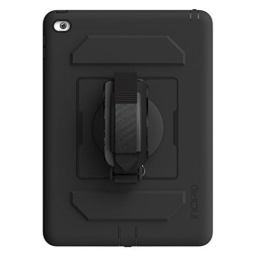 Incipio Capture Extrem Robuste Schutzhülle mit Abnehmbarer Drehbarer Handschlaufe und Displayschutzfolie für Apple iPad Air 2 - Schwarz