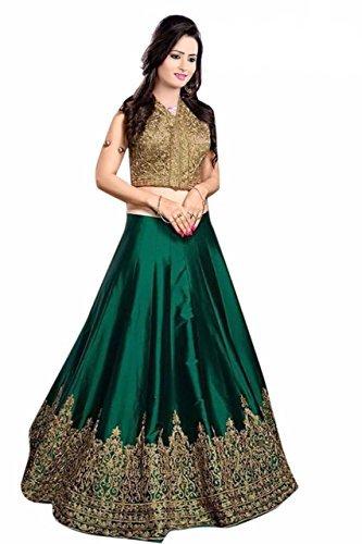Vaankosh Fashion Women's Cotton Lehenga Choli (vnkosh26_Free Size_Navy Blue)
