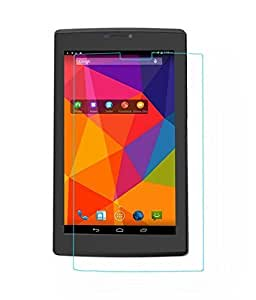 Plus Tempered Glass for Micromax Canvas Tab P480 [Cutout for Proximity Sensor] 9H Hardness,Reduce Fingerprint, No Rainbow, Bubble Free & Oil Stains Coating with Alcohol wet cloth pad & clean micro fibre Dry cloth,Premium Anti Explosion Tempered Glass Screen Protector for Micromax Canvas Tab P480