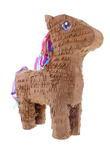 Pinata Pferd braun 55 x 14 x 41 cm Partyspiel für Kinder Kindergeburtstag (Kindergeburtstag Den Für Pferd Pinatas)