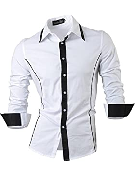 [Sponsorizzato]Jeansian Uomo Camicie Maniche Lunghe Moda Men Shirts Slim Fit Causal Long Sleves Fashion 2028