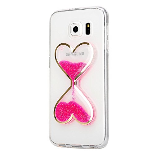 Für Samsung Galaxy S6 Edge Hülle,Galaxy S6 Edge Hülle Bling Glitzer Kristall Strass Diamant Spiegel Hülle,EMAXELERS Galaxy S6 Edge Case Cute Lovely Bär Ring Holder Weich TPU,Galaxy S6 Edge Hülle Silik S Hourglass 3