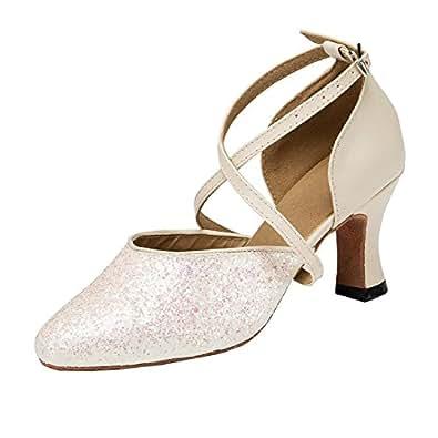 MINITOO da Donna Croce Strap Glitter Ballroom Latin Salsa Scarpe da ... 500c8df95cd