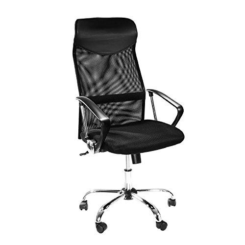 Home und Office Schreibtisch | Ergonomisches Drehstuhl-360Grad | Gaming Stuhl mit Mesh-Rücken für Superior Lendenwirbelsäule & Haltung Unterstützung | schwarz (Unterstützung Haltung)