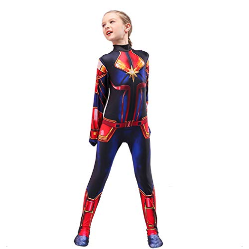Superhelden Kostüm Kind Madchen Verkleidung Madchen,Party Film Cosplay Overall Kostüm,Karneval Halloween Kostüm,Child-S
