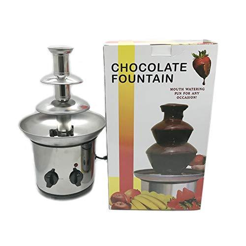 Aktualisierte Version Von 3-Schicht-DIY-Schokolade Mini Edelstahl-Brunnen, Alle Edelstahl-Leise Automatische Mischung, Schokoladen Wasserfall Schmelz Maschine Schmelz Turm Aktivität Home-Party-Nutzung -