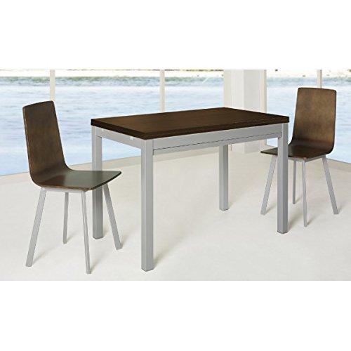 SHIITO Mesa de Cocina Extensible de 110x70 cm con cubertero en ...