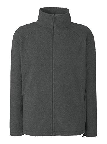 Fruit of the Loom Herren Sweatshirt Outdoor Full Zip Fleece Smoke