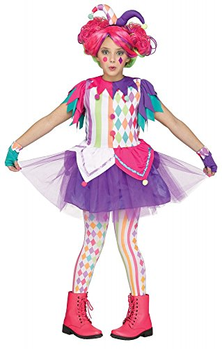 Kinder-Kostüm Colorful Harlequin für Mädchen Clown Harlekin Teenager, -