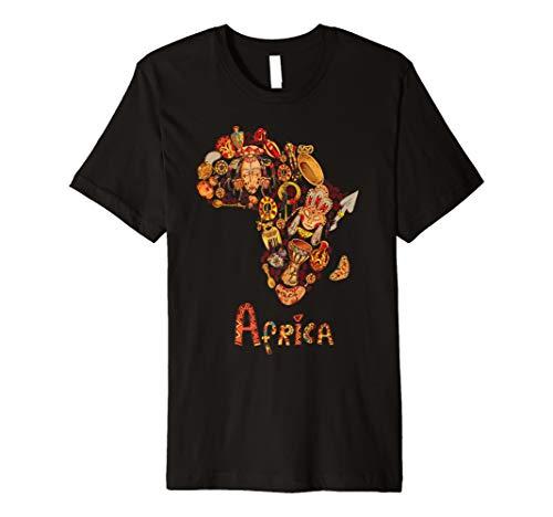 Afrika Shirt afrikanischen Kontinent Tribal schwarz King Queen Wurzeln