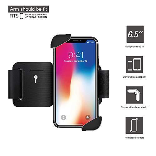 fd8430947c Wonanse Fascia da Bracci, Cellulare Bracciali, Compatibile con iPhone  X/XS/XR/XS Max/6/7/8/6 Plus/7 Plus/8 Plus, Samsung, Huawei, Google e Altri  ...