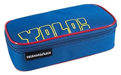 Eberhard Faber 577550 Jumbo - Estuche con 12 Compartimentos para bolígrafos y escuadra, Color Azul