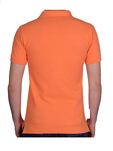 Ralph Lauren Herren Kurzarm Poloshirt - Classic Fit - Premium Cotton Orange