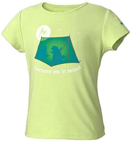 Marmot Kinder T-Shirt Get In Tents Short Sleeve, green lime, XS, 69410-4680-2