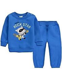 Vine Enfants Sweat-shirt et Pantalon Ensembles Coton T-Shirt Survêtement Pulls pour Garçons Filles