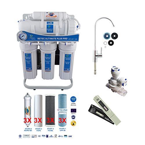 Osmoseanlage 600 GPD Ultimate PLUS PRO PROFI EDITION 2018 direct flow kein Tank nötig Umkehrosmosewasserfilter Wasserfilter Trinkwasser Umkehrosmose Reverse Osmosis -