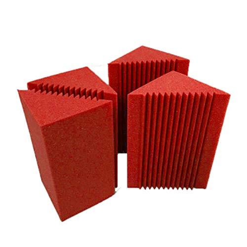 FidgetGear 4 piezas de trampa de graves pequeñas, para esquina, de espuma, insonorizada, herramienta inofensiva para estudio