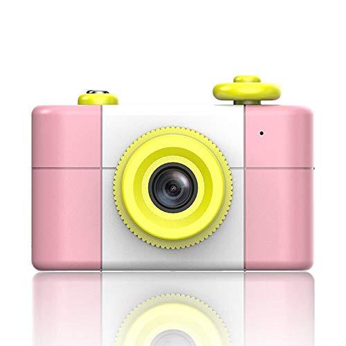 Teepao Fotocamera Digitale Compatta Bambini Mini Macchina Digitale Fotografica Anti-Shake Micro Portatile Videoregistratore 1080p FHD Piccolo SLR con Zoom 4 x Supporta TF - Rosa con 8GB Carte