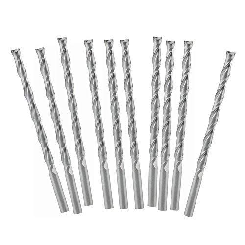 DealMux 4 mm de corte 3 piezas Bit Dia 6 mm V/ástago 4 flauta HSSAL molino de extremo de corte CNC
