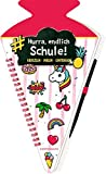 Schultüten-Kratzelbuch - Funny Patches - Hurra, endlich Schule! (pink): Kratzeln, Malen, Eintragen