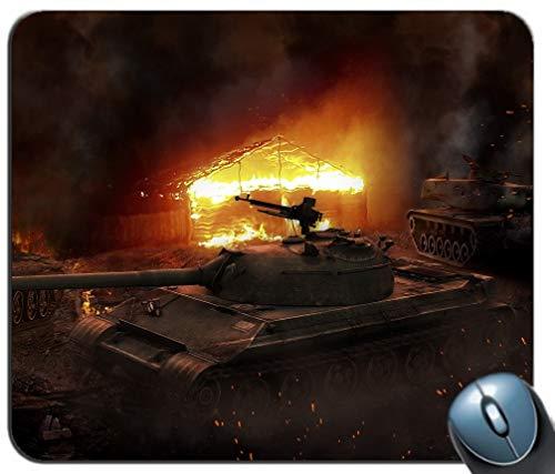 99A Chinesische Panzer Hintergrund Mauspad, Gaming Mauspad Rutschfeste Gummibasis, Personalisierte Mausmatte für Computer & Laptop