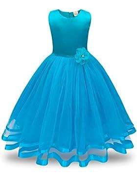 Vestido de niña Vestido de novia del partido del vestido de tul del tutú de la princesa de la dama de honor de...