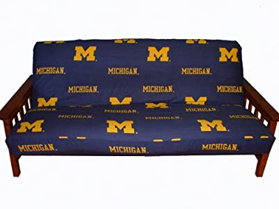 Michigan Futon Cover - Full Size fits 8 and 10 inch mats - Michigan Wolverines