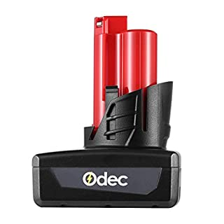 Odec 12V 4.0Ah Battery for Milwaukee M12 Lithium-Ion, 48-11-2401, 48-11-2402, C12 B, C12 BX 4000mAh Replacement Cordless Tool Milwaukee 12V Battery