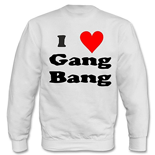 Pullover - I love Gang-Bang Weiß