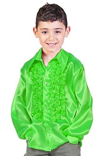 Satin Rüschenhemd Johnny für Kinder - Grün Gr. ()