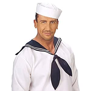 Bonnet de Matelot Marin Chapeau Blanc Marine Coiffe Bonnet de Marin Marin Calot Matelot Femme Matelot Déguisement Accessoire
