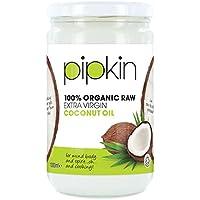 Pipkin 100% Organic Coconut Oil 1L, Cold Pressed Raw Pure Extra Virgin, Multi-Purpose, Non-GMO, For Hair / Skin / Body Moisturiser, Edible, Gluten Free, Vegetarian, Vegan and Paleo Friendly