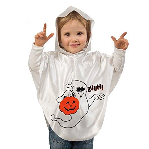 Kinderkostüm Geist Buuh Gr. 104/116 Halloween Kostüm Gespenst Umhang Überwurf (Halloween Ag Kostüme)