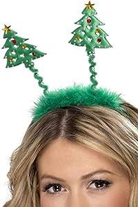 Smiffys Diadema con árboles de Navidad, Verde, con diadema