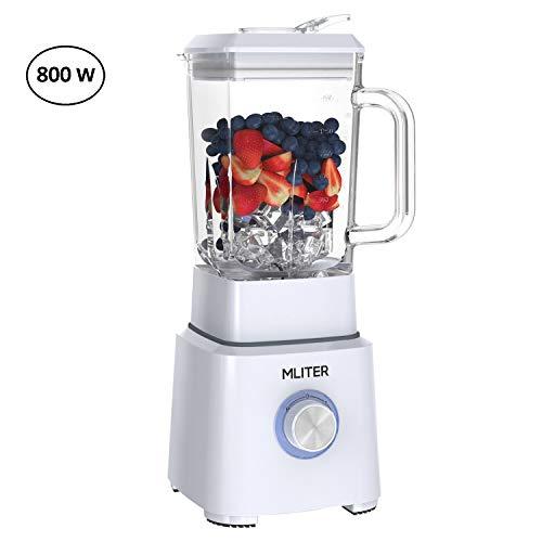 MLITER Mixeur 800W Fruit Mixeur Blender 1,6L...