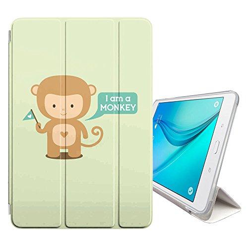 onkey Affe Cartoon Tier Design Smart cover Hülle Dünn Tri-Fold Schlank Superleicht Ständer Cover Schutzhülle Tasche für Samsung Galaxy Tab S3-9.7