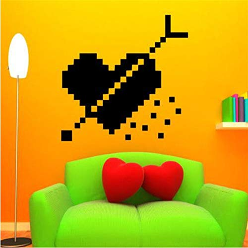 Ajcwhml Wandtattoo Herz Pixel Pfeil Aufkleber Kunst Interior Design Home Decor Aufkleber 55 * 88Cm